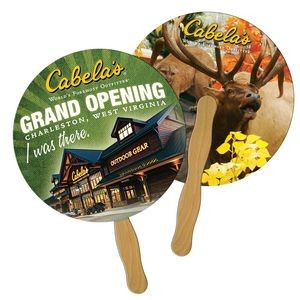 Round/Ball Hand Fan Full Color (2 Sides)