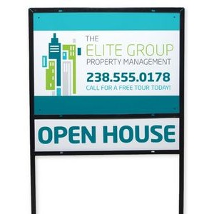 "Full Color Metal Yard Sign w/Frame (18""x24"") -Rider Sign - ZRS-09Z and has to be ordered separately!"